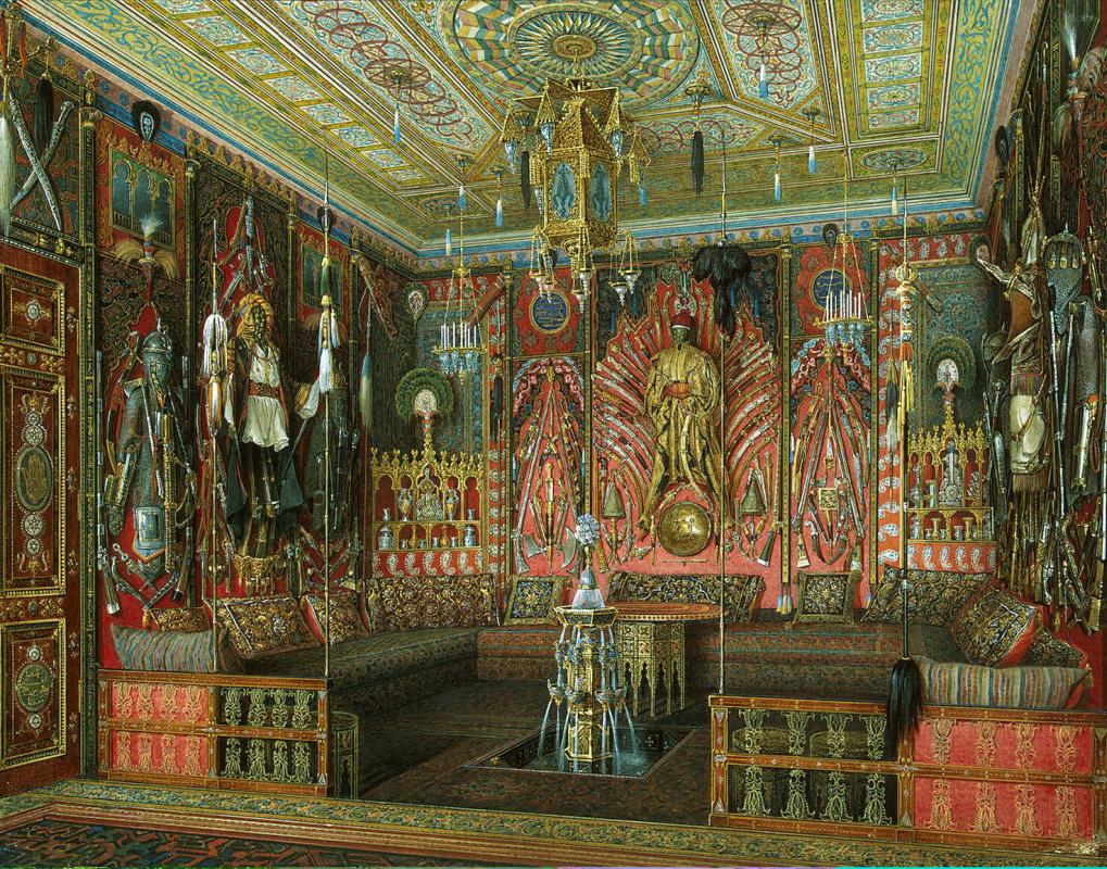 Эдуард Петрович Гау. Турецкая комната в Екатерининском дворце Царского Села