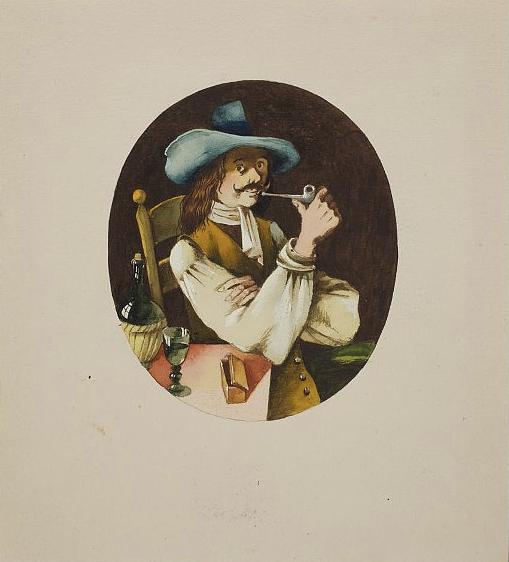 Курильщик. Иллюстрация к книге «Сказки и истории» Ганса Христиана Андерсена