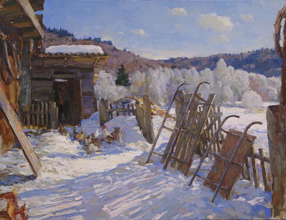 Alexander Victorovich Shevelyov. Breath of spring. Oil on canvas 47 x 60.5 cm. 2012