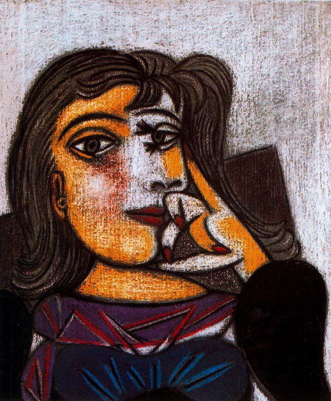 Пабло Пикассо. Брюнетка