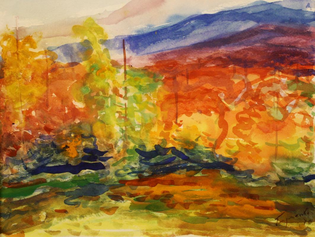 Nikolay Petrovich Glushchenko. Autumn landscape