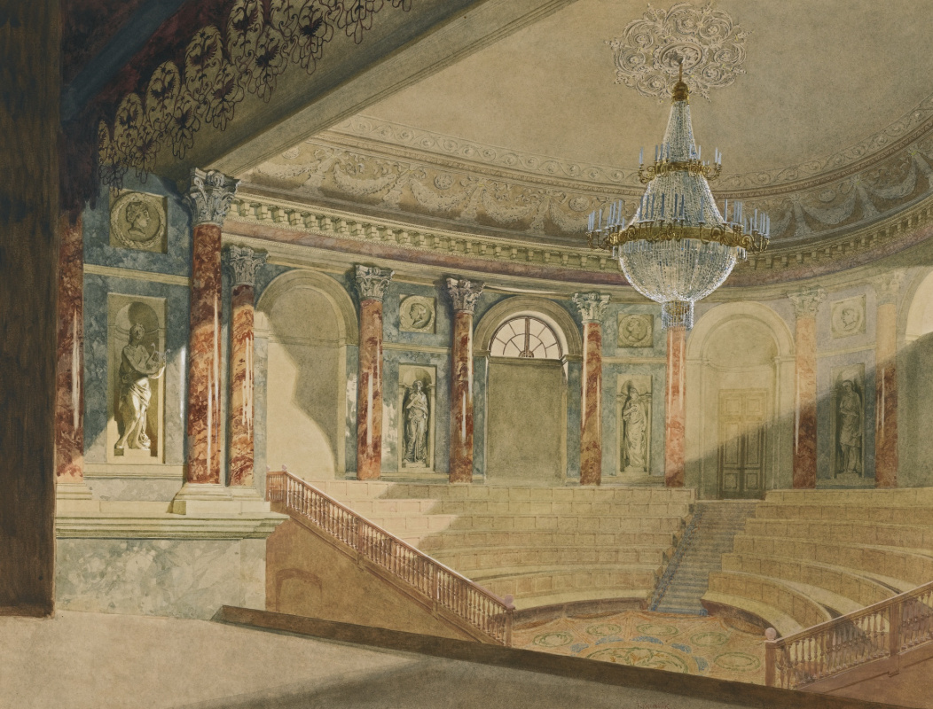 Franz Copallicus Austria 1860 - 1931. Theater Hermitage.