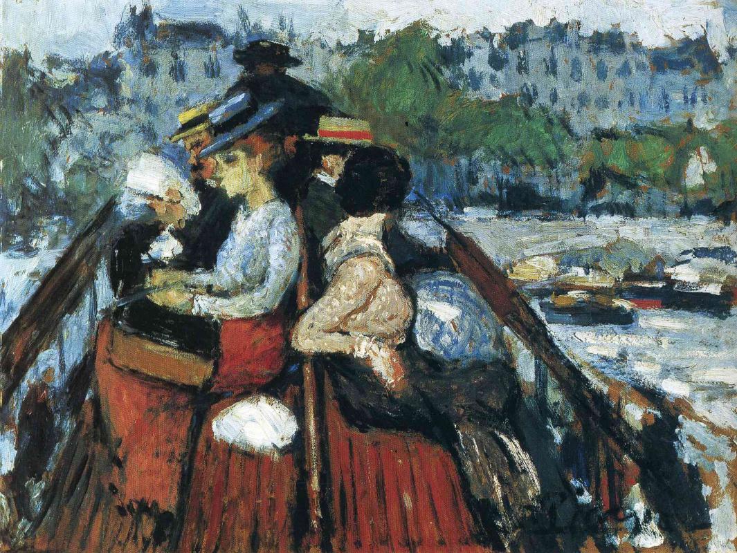 Пабло Пикассо. Путники, пересекающие Сену на верхней палубе