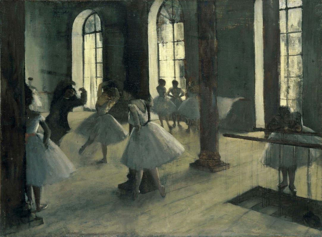 Edgar Degas. Rehearsal in a ballet class