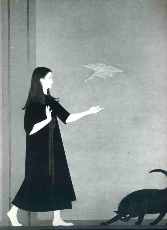 Уилл Барнет. Девочка и черная кошка