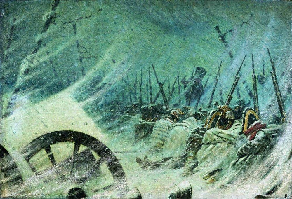 Василий Васильевич Верещагин. Ночной привал великой армии