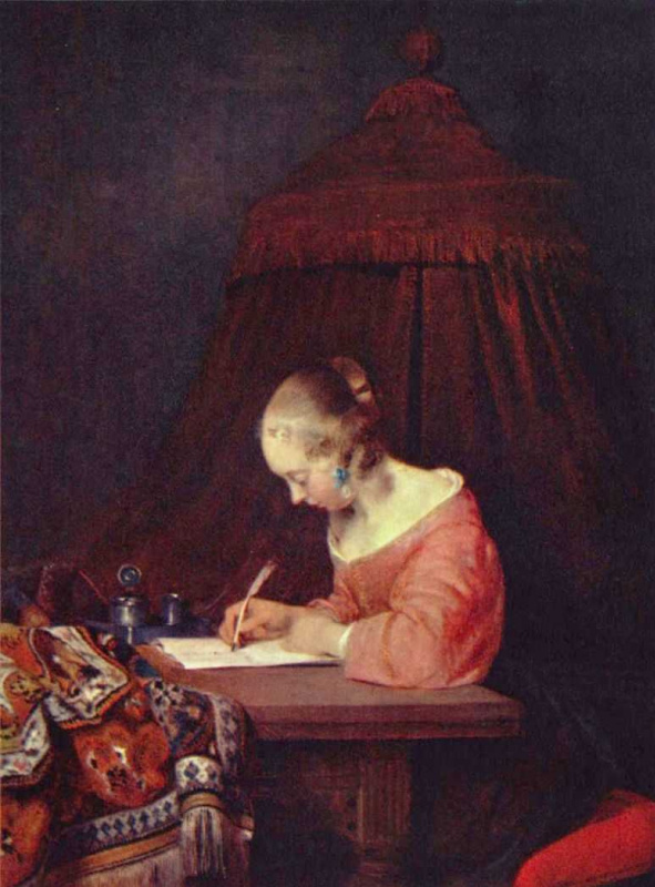 Герард тер Борх Младший. Девушка, пишущая письмо