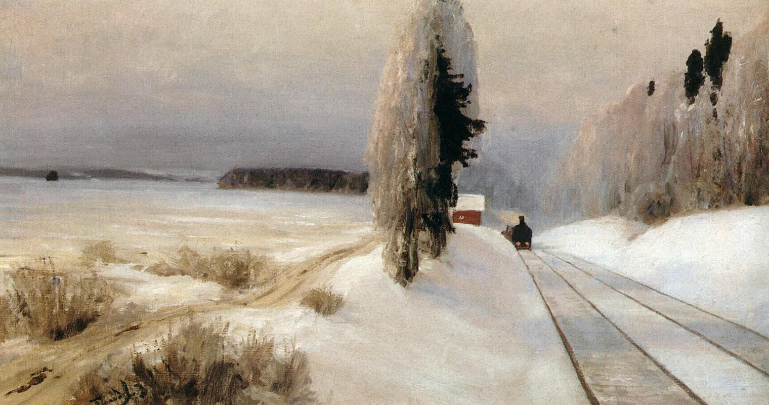 Vasily Polenov. Railway near the station Tarusskaya