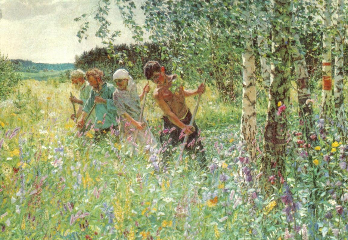Arkady Alexandrovich Plastov. Haymaking