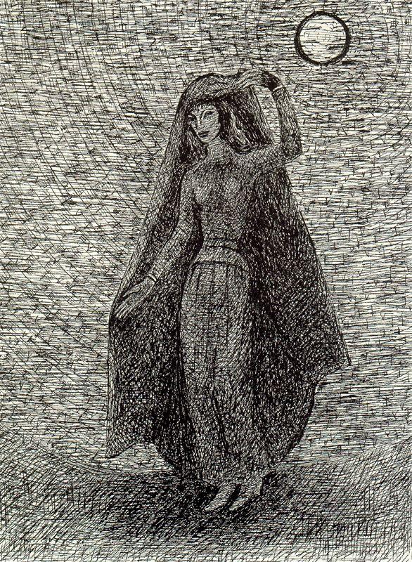 Хуан Сориано. Женщина под луной