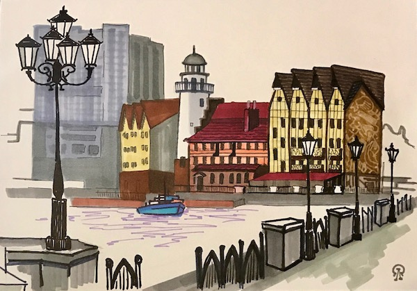 Larissa Lukaneva. Quay. Sketch.