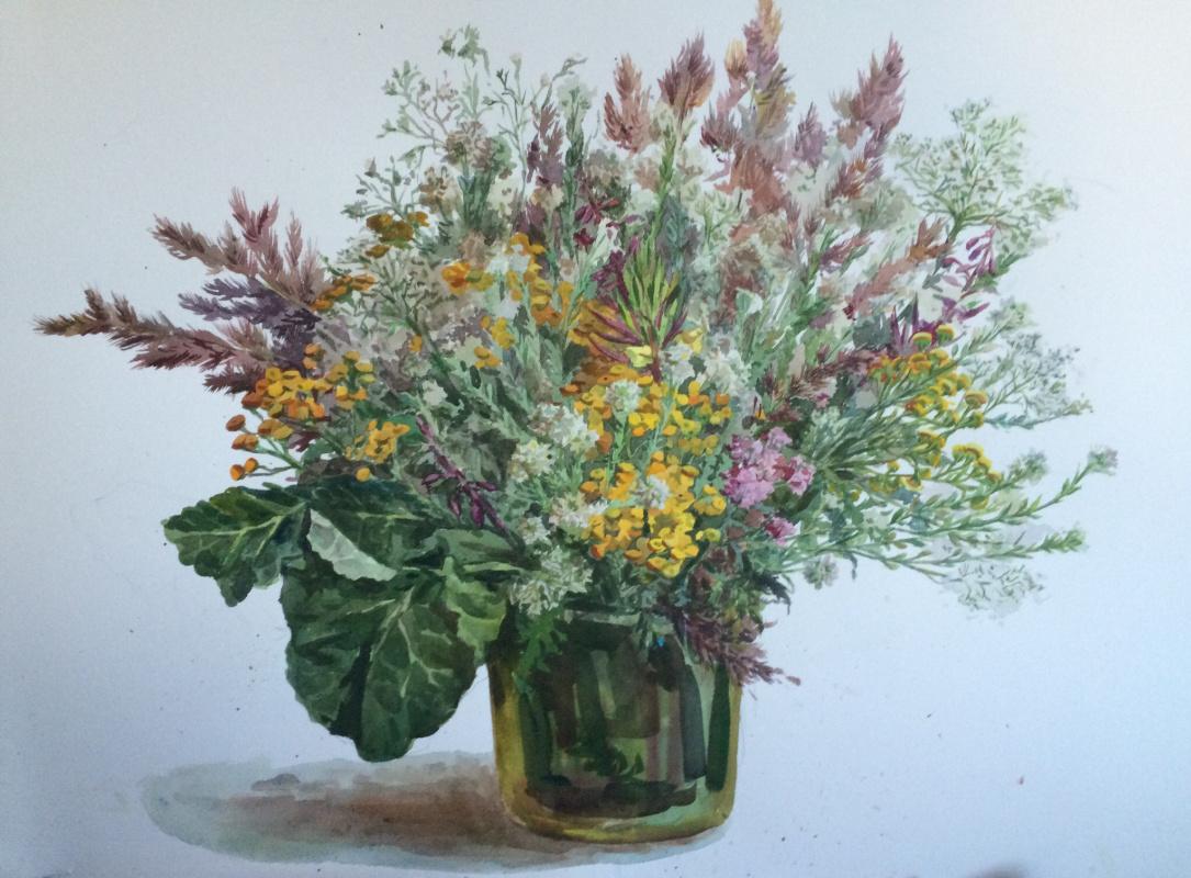 Maria Alexandrovna Vladimirova. Bouquet of wildflowers