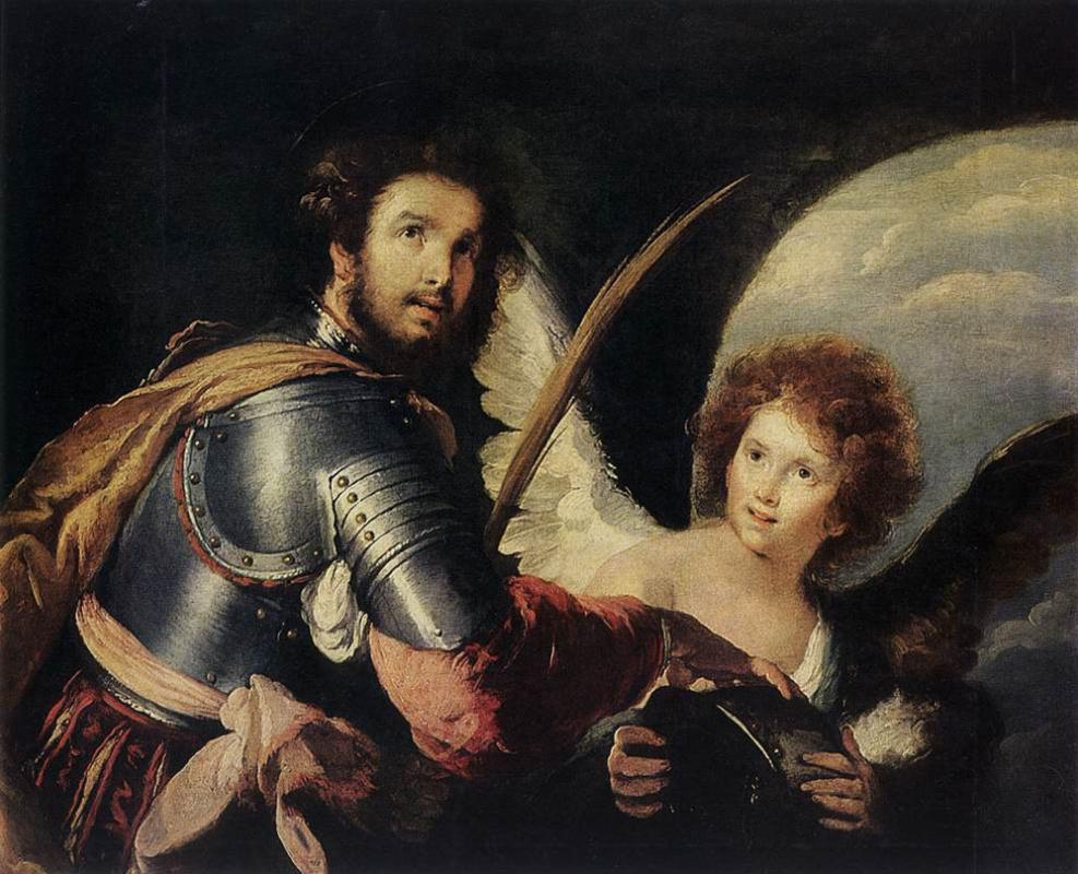 Бернардо Строцци. Святой Морис и ангел