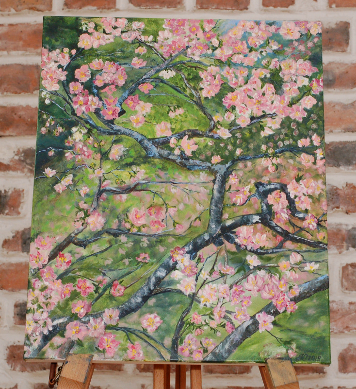 Julia Yuryevna Boyarko. Sakura bloom. Tokyo Garden