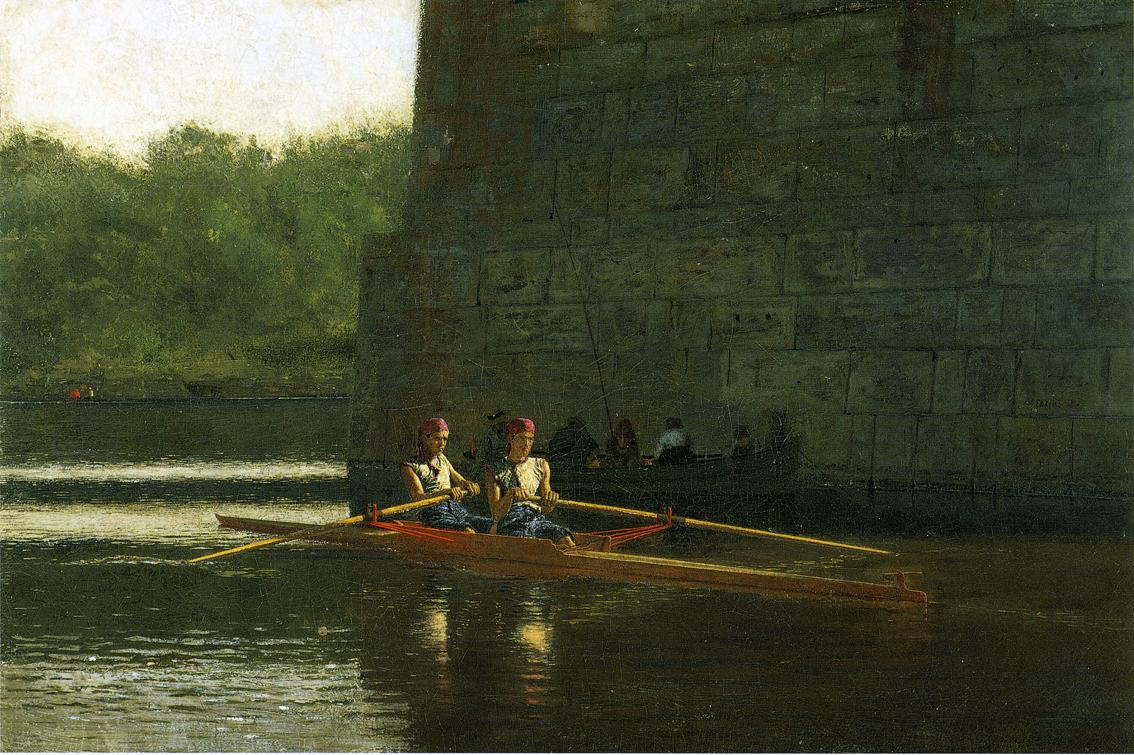 Thomas Eakins. Rowers brothers Schreiber