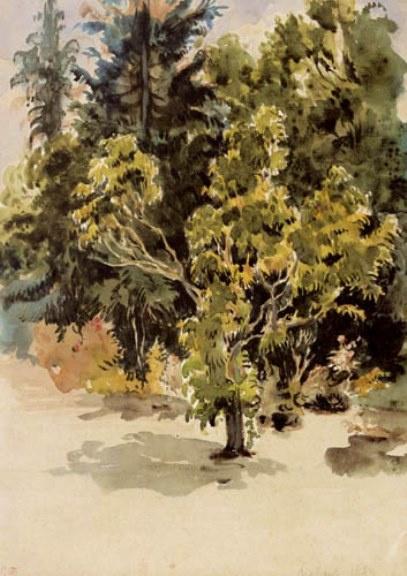 Eugene Delacroix. Trees