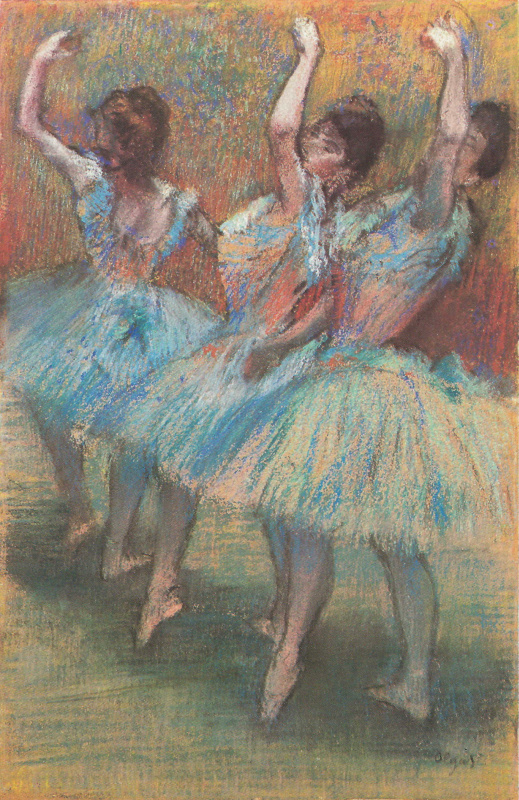 Edgar Degas. Three dancers