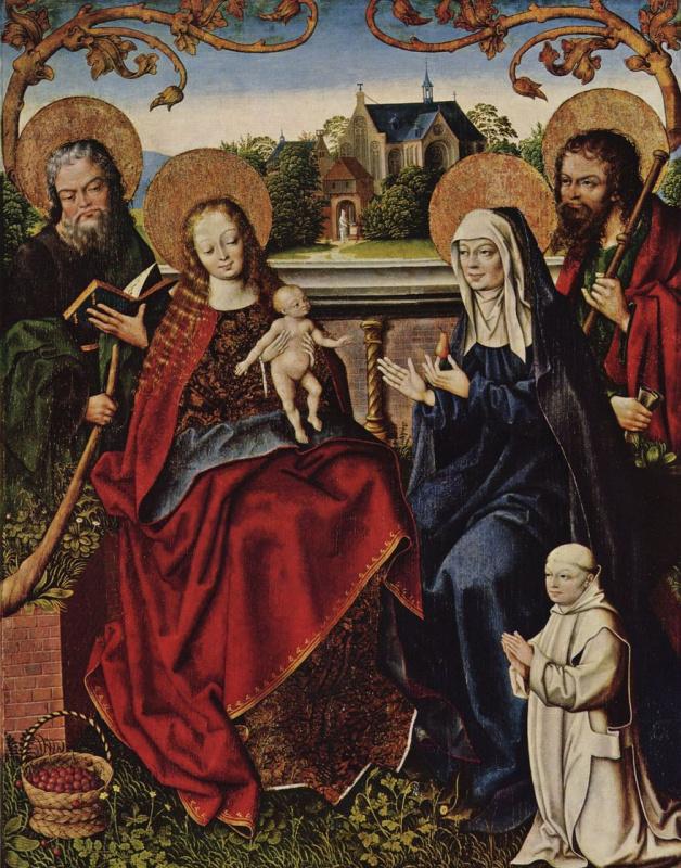 Ян Багерт. Святое семейство с монахом-картезианцем