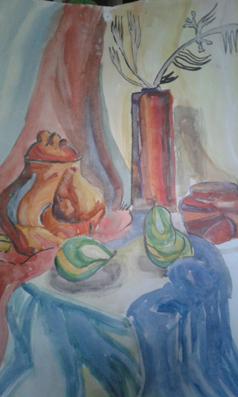 Nastya meow. Волнистый натюрморт