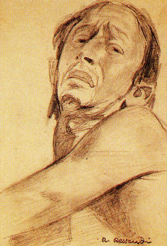 Baldomero Romero Ressendi. Portrait of a man