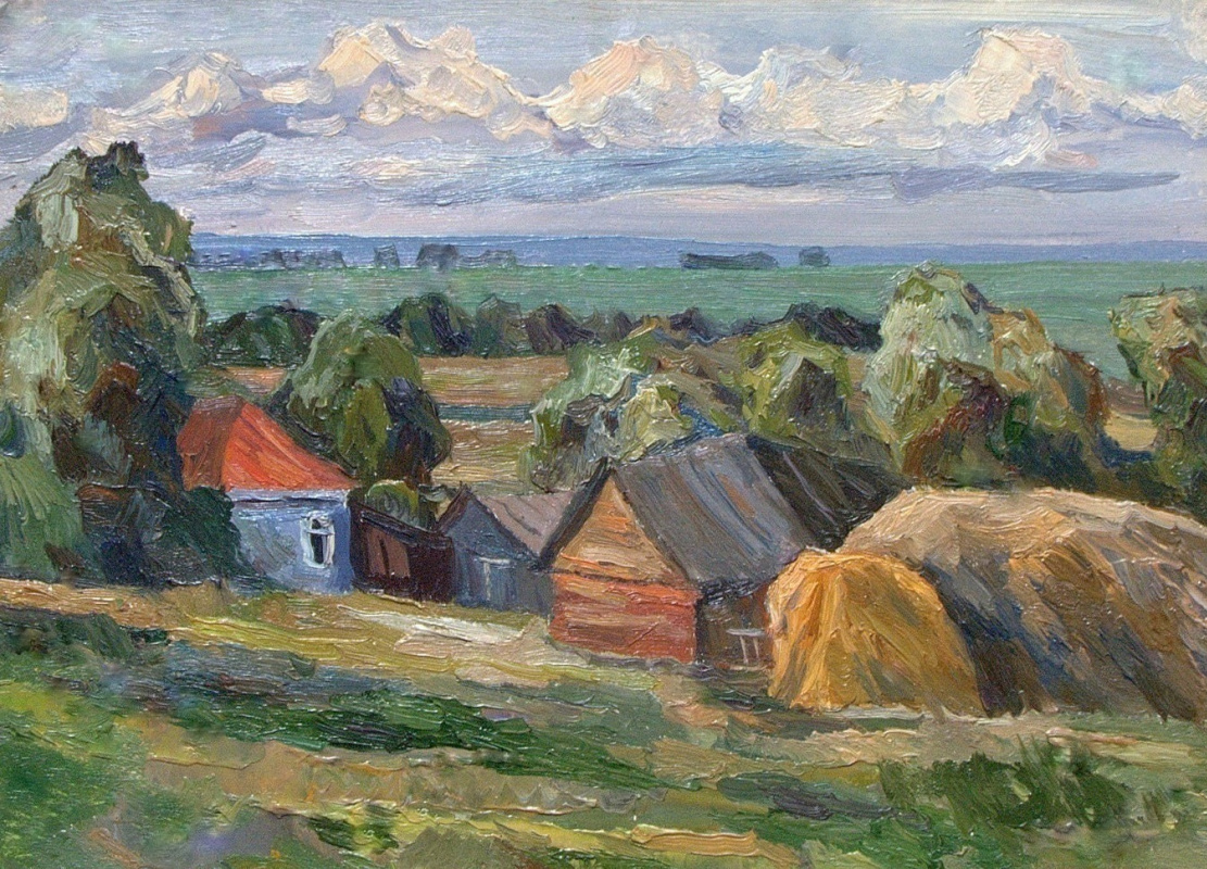 Oleg Borisovich Zakharov. July in Ozeritsy. Etude. (Beloomut, Fruit)