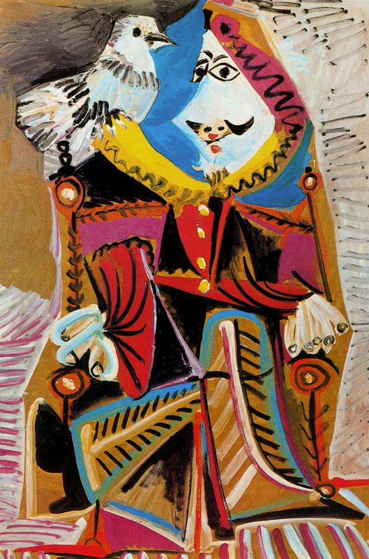 Пабло Пикассо. Мушкетер с голубем