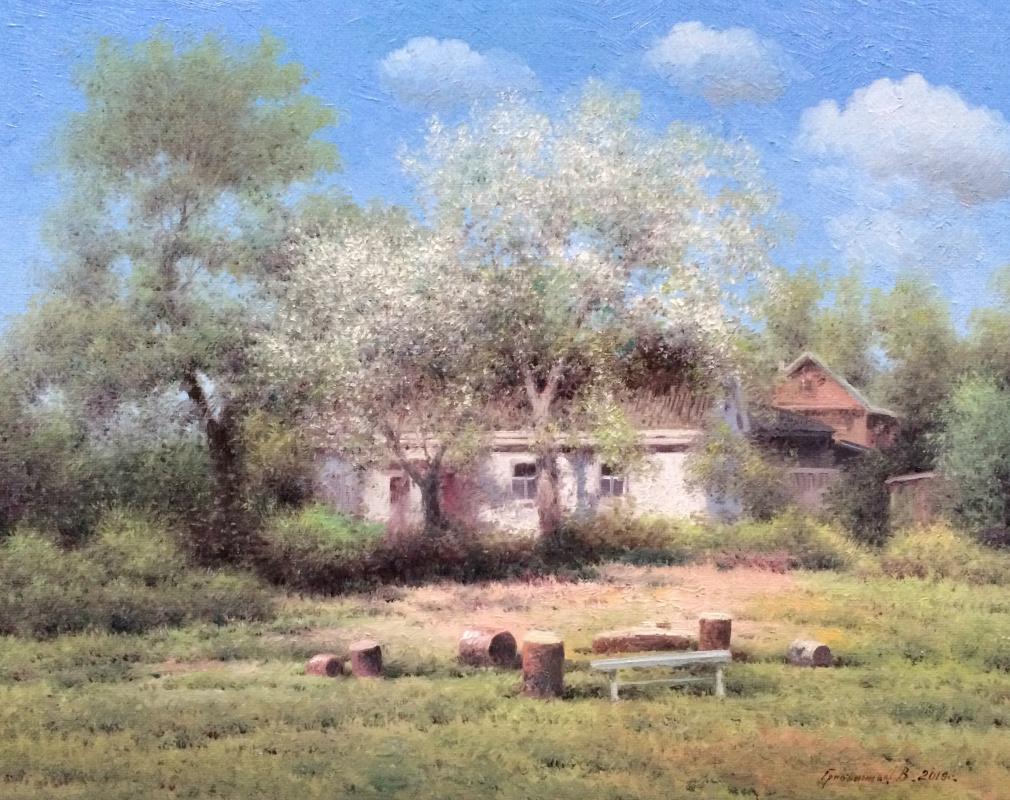 Vasily Ivanovich Gribennikov. Apple tree blooms