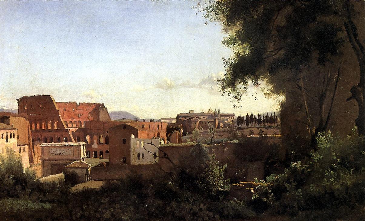 Камиль Коро. Вид Колизея от садов Фарнезе