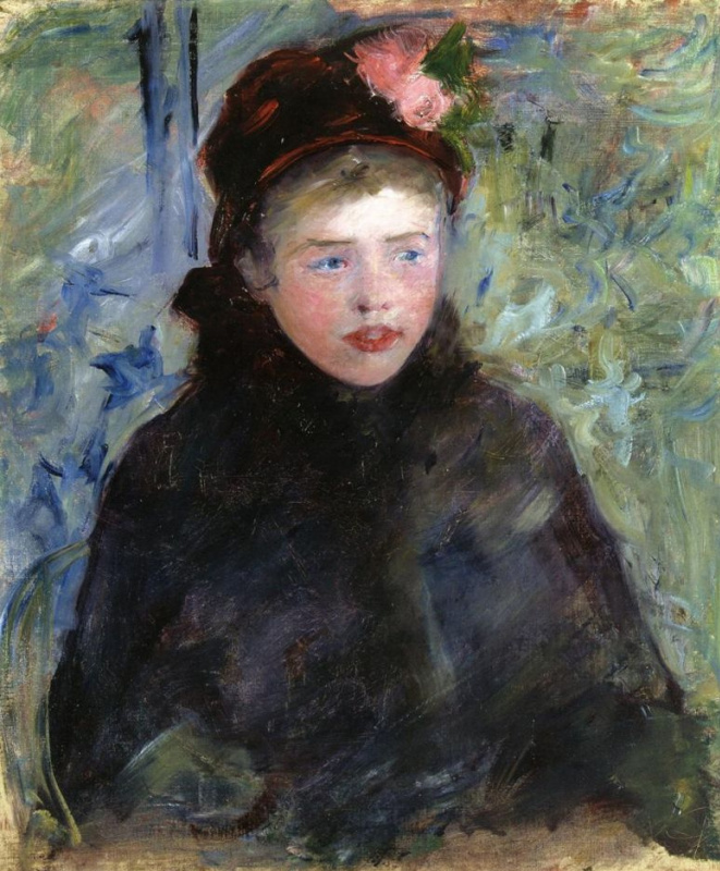 Мэри Кассат. Сьюзен в токе, украшенном двумя розами