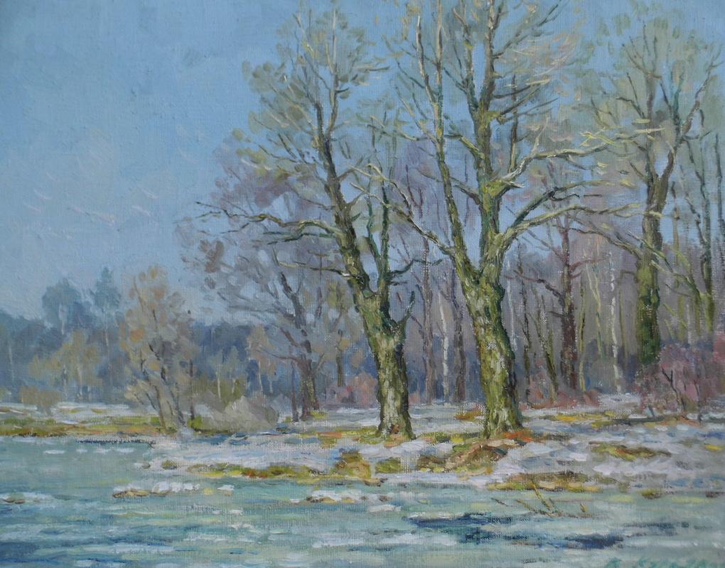 Victor Vladimirovich Kuryanov. Oaks by the pond