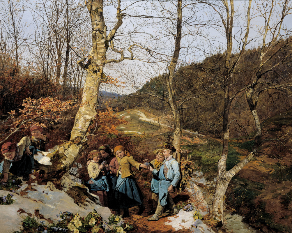 Ferdinand Georg Waldmüller. Early spring in the Vienna forest