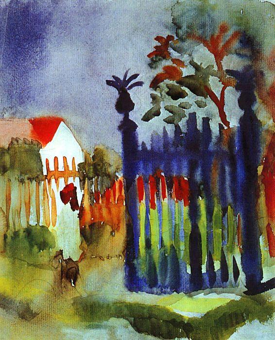 August Macke. The fence