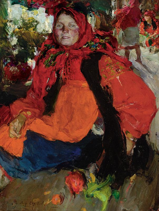 Abram Arkhipov. Portrait of a peasant girl