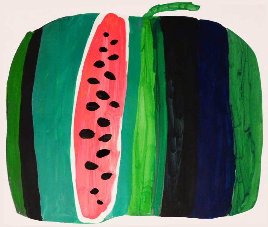 "Marina Dmitrievna Koldobskaya. Watermelon. Series ""Fruits"""