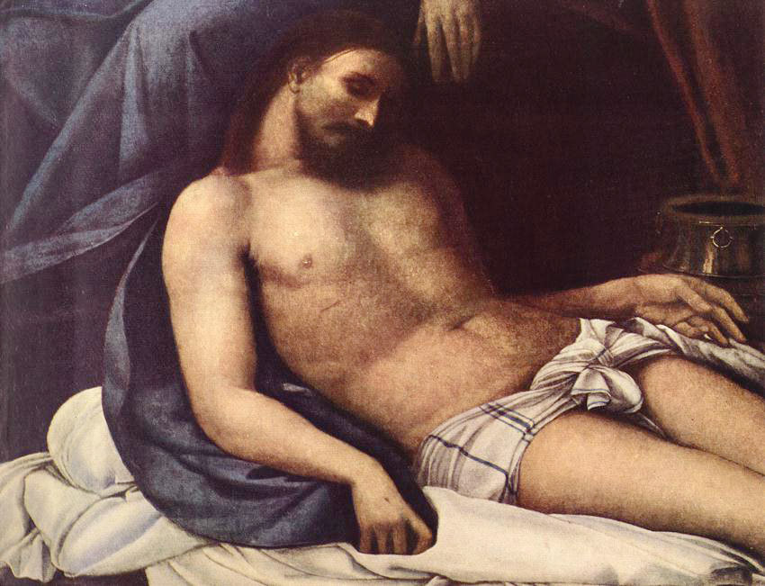 Sebastiano del Piombo. The descent from the cross (fragment)