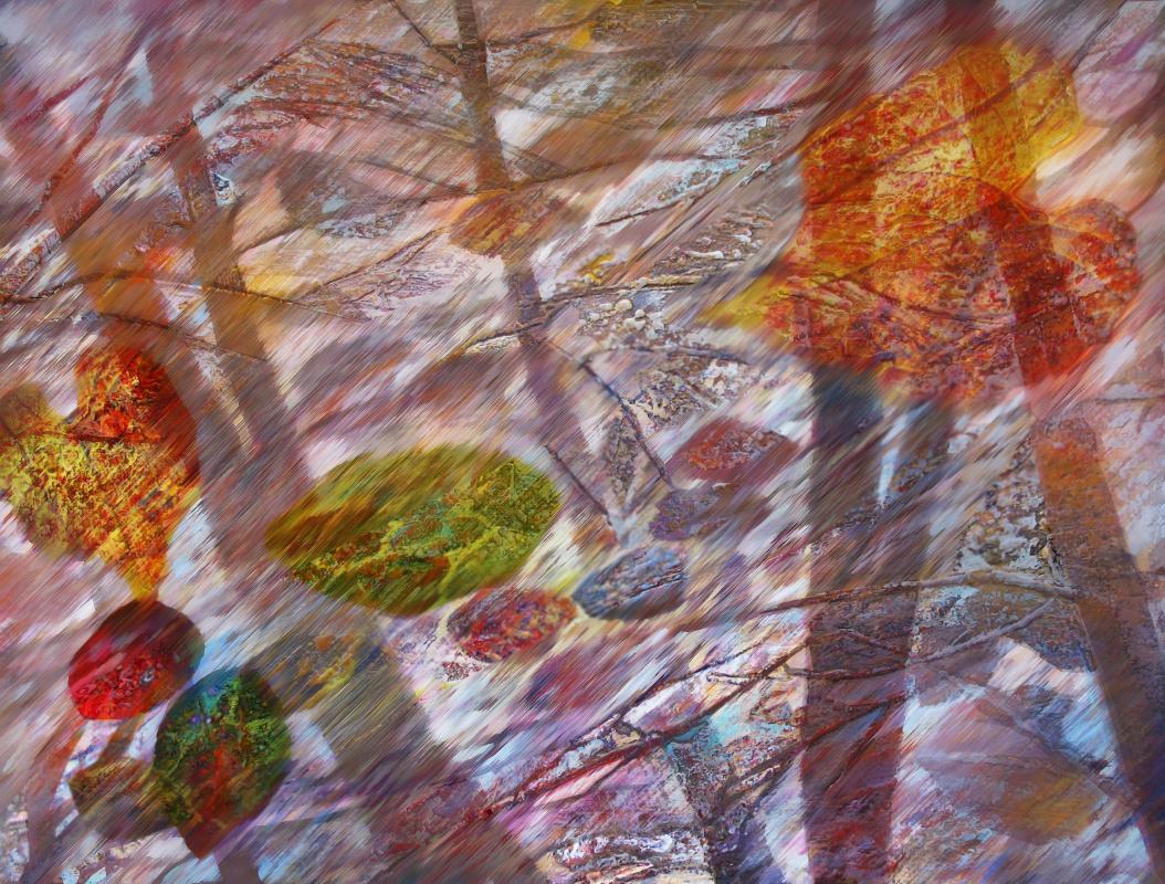 Alexander Ivanovich Vlasyuk. The wind carries them past autumn