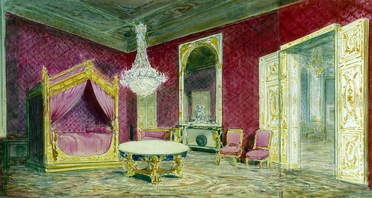 Павел Яковлевич Пясецкий. Комната Николая II в замке Компьень