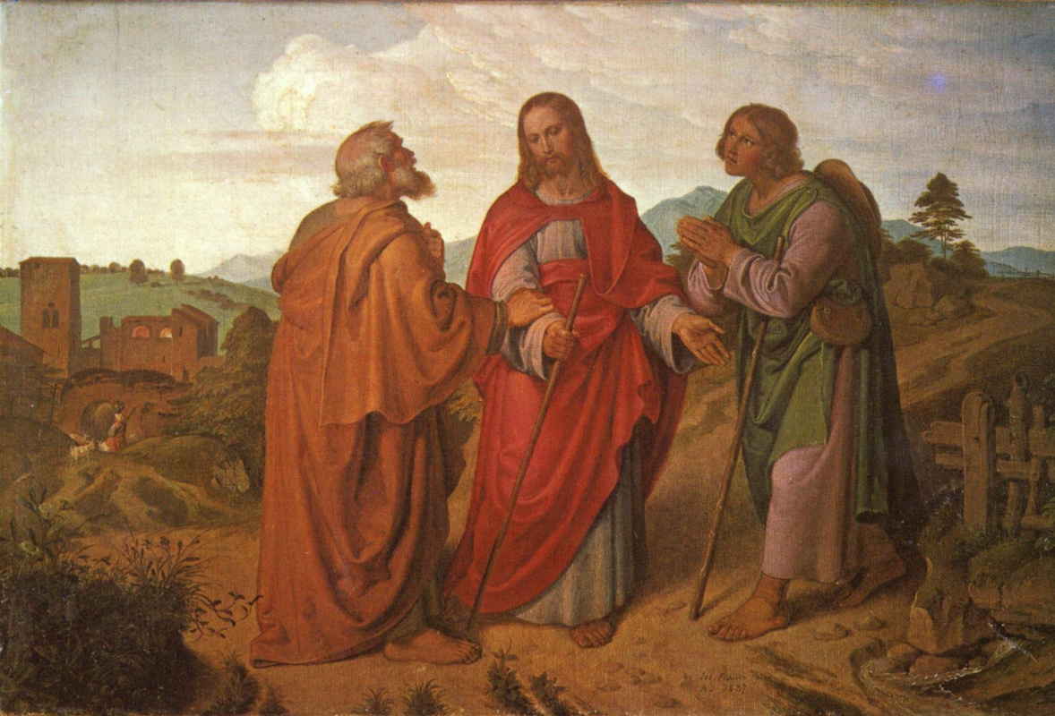 Josef von Fürich. On the road to Emmaus