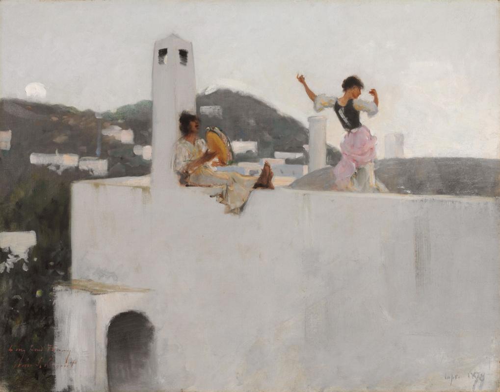 Джон Сингер Сарджент. Девушка с Капри на крыше