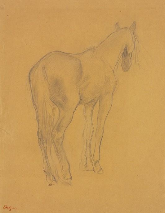Edgar Degas. Horse