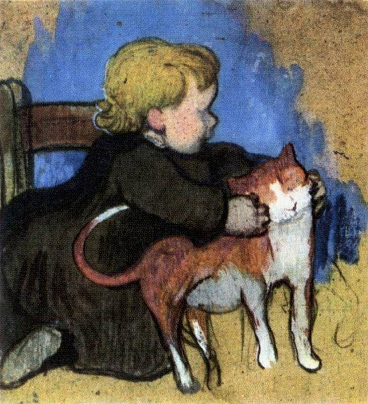 Поль Гоген. Мими и ее кот