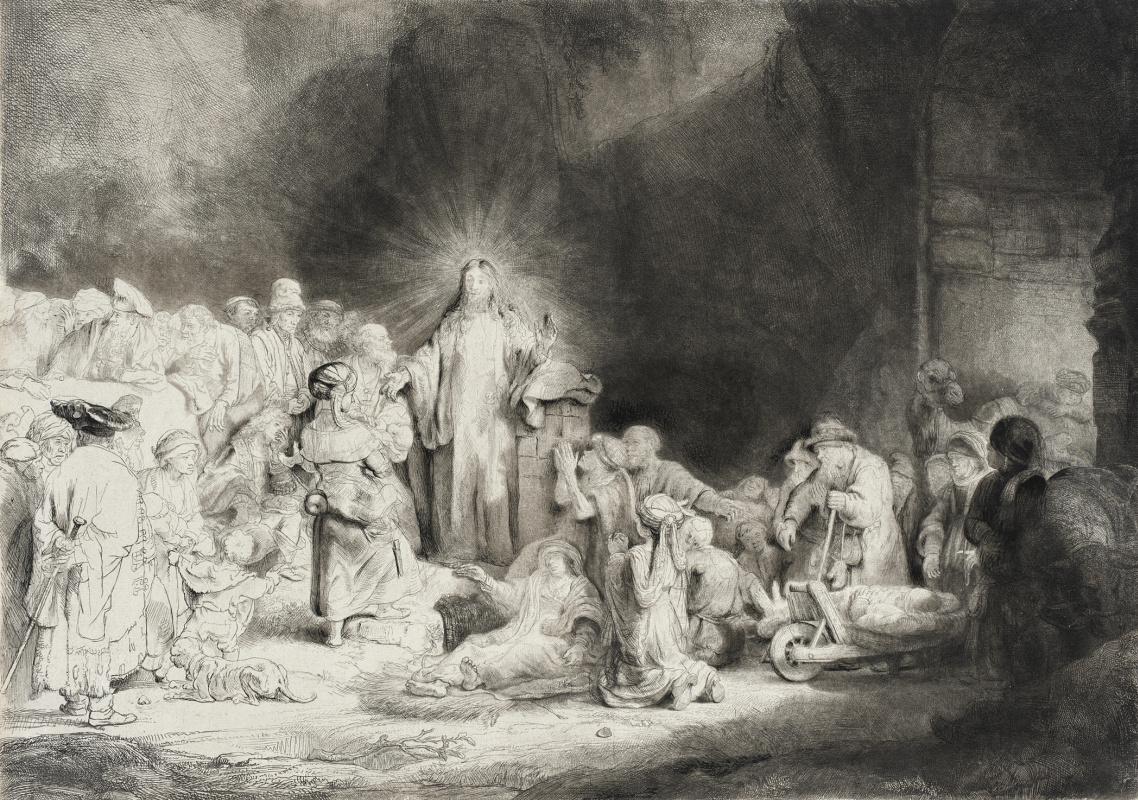 Рембрандт Харменс ван Рейн. Христос, исцеляющий больных