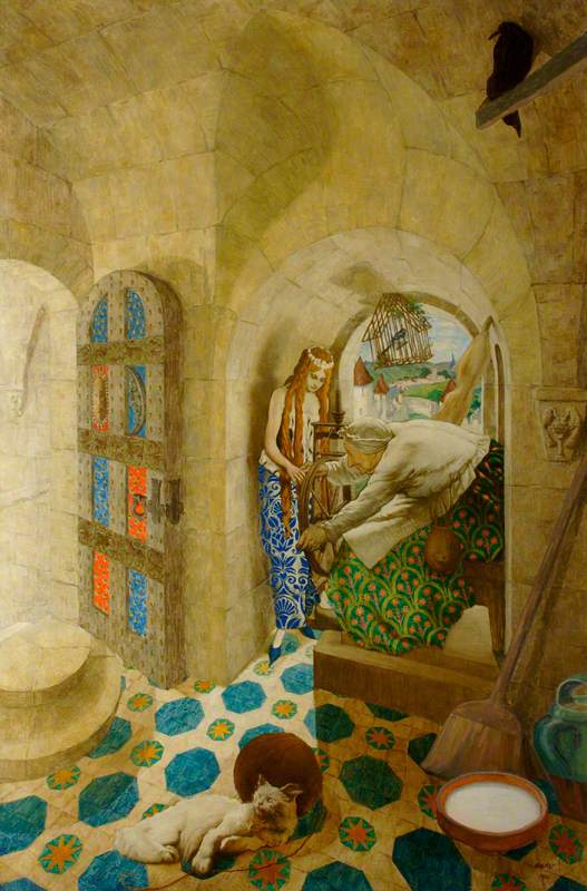 Lev (Leon) Bakst. Sleeping beauty. Princess hurt finger with a spindle