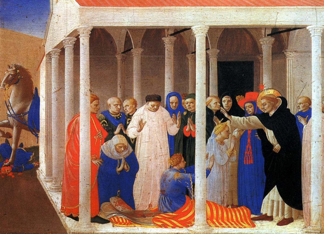 Фра Беато Анджелико. Святой Доминик оживляет Наполеона