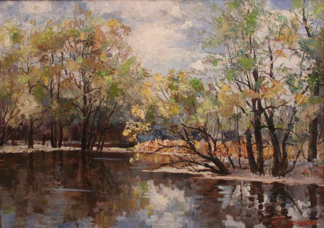Victor Tikhonovich Karjakin. Volga in the flood