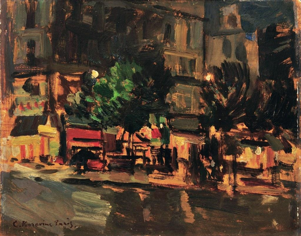 К.Коровин. Париж ночью