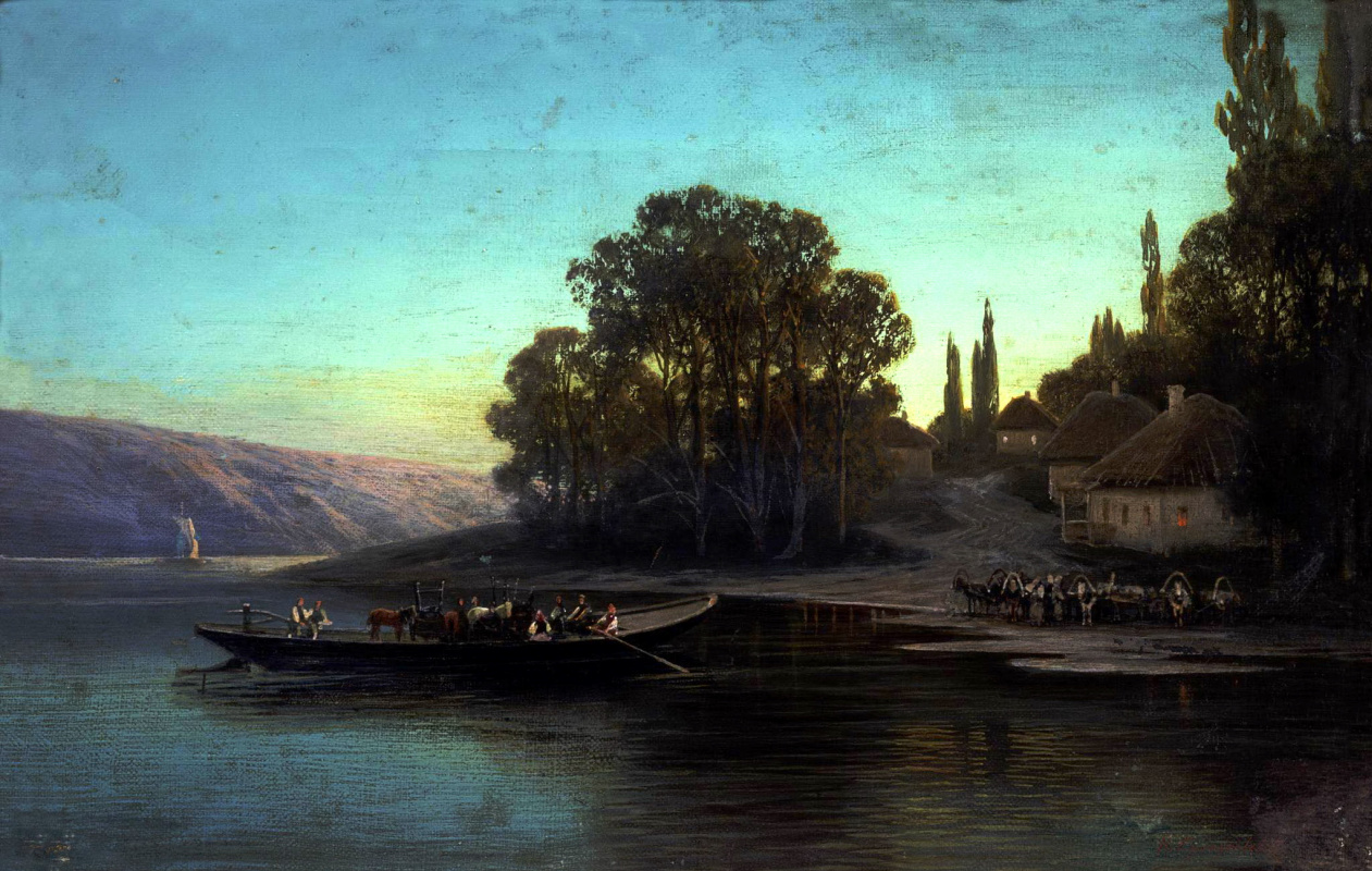 Петр Александрович Суходольский. Ночной пейзаж