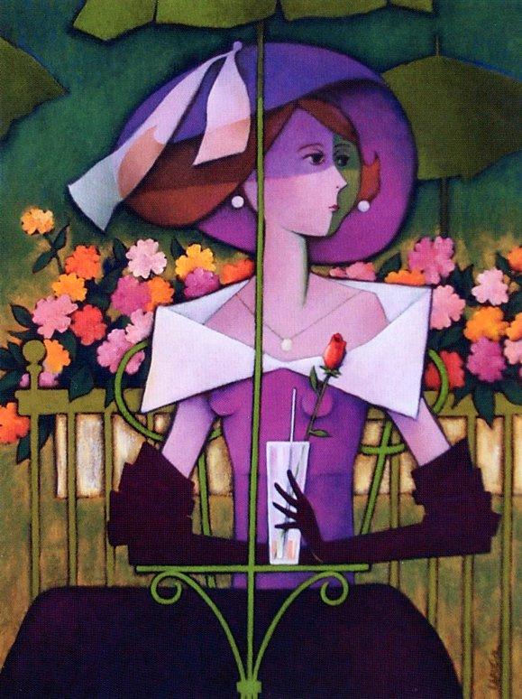 Клод Лафлер. Дама с цветком