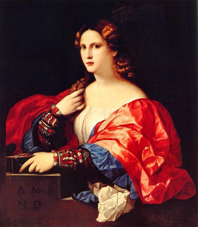 Пальма иль Веккьо. Портрет молодой женщины