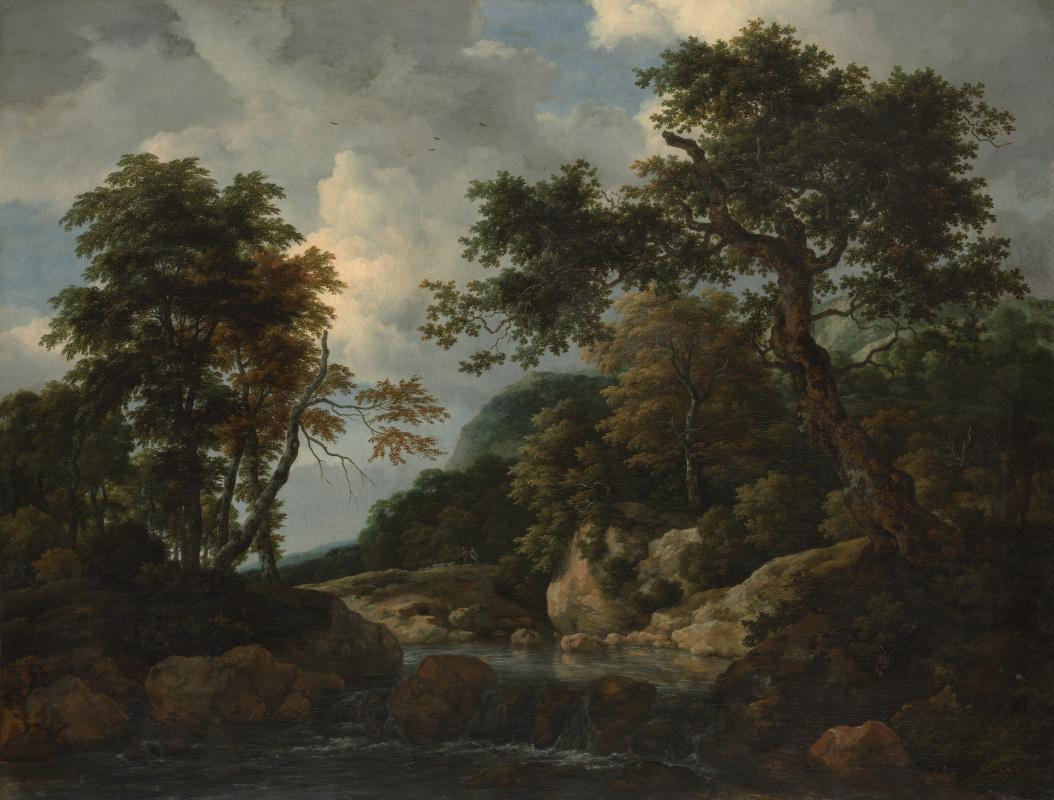 Jakob van Isaacs Ruisdael. Forest stream
